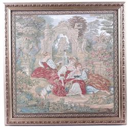"""Le Pifferaro"" French Tapestry, c. 1920"