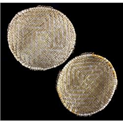 """Two Hopi """"Yucca Sifter"""" Baskets"""