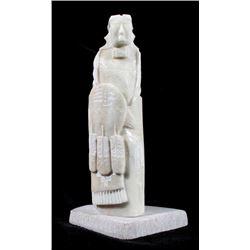 O. Yazzie Navajo Alabaster Figural Chief Carving