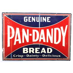 Genuine Pan-Dandy Bread Embossed Tin Sign