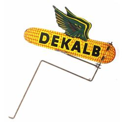 Vintage Dekalb Seed Spinning Advertising Sign