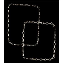 Two Navajo Sterling Silver Fetter Chains