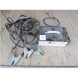Battery Charger 10AMP/booster cables