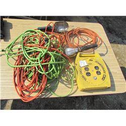 Cord Reel, 2 trbl lights, ext cord