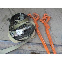 2-Chain tighteners + 2 ratchet straps