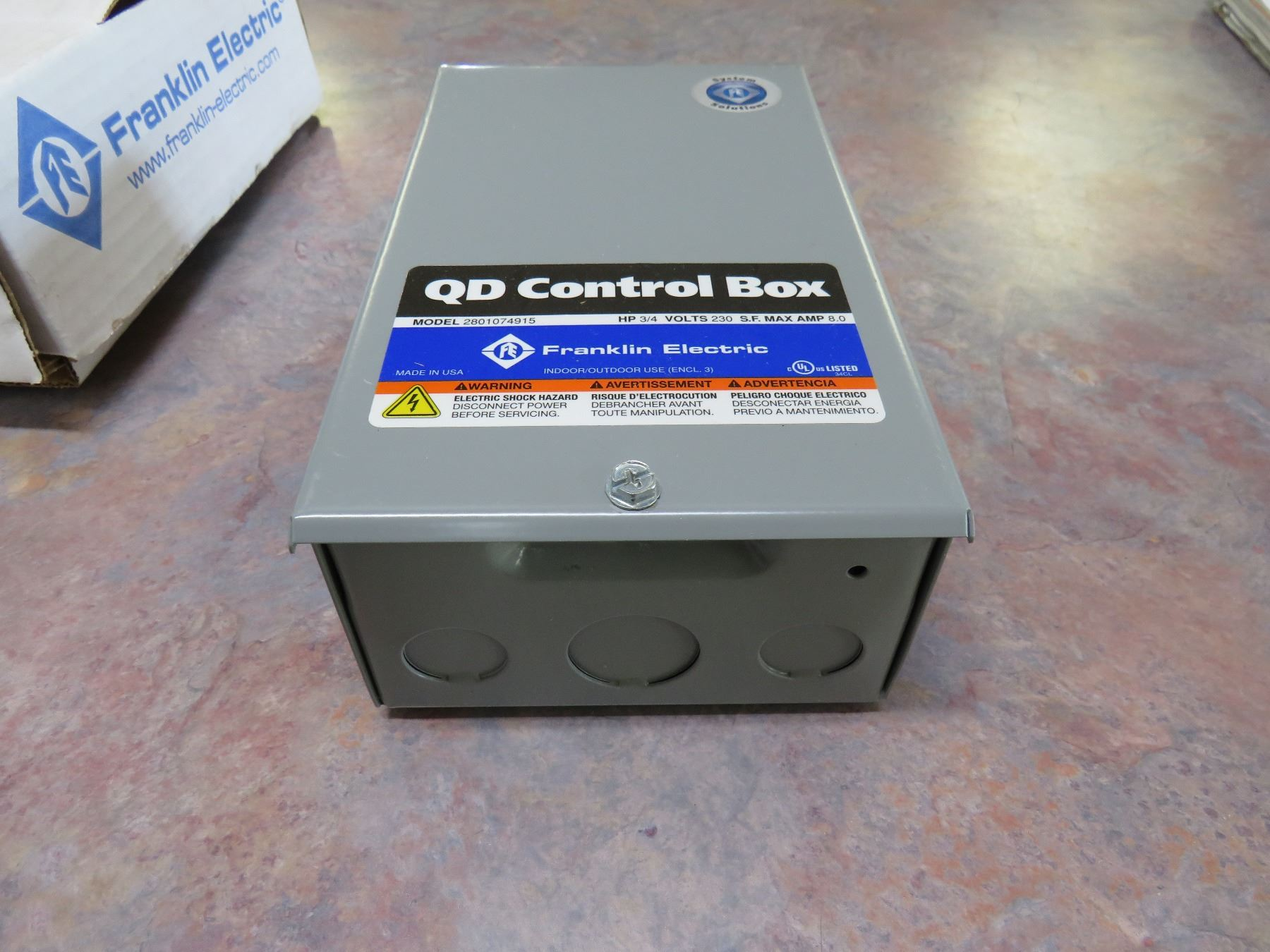 NEW FRANKLIN ELECTRIC SUBMERSIBLE MOTOR CONTROL BOX