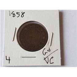 1858 Large Penny (RARE)