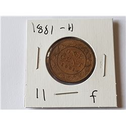1881 H Large Penny