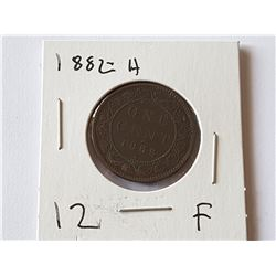 1882 H Large Penny