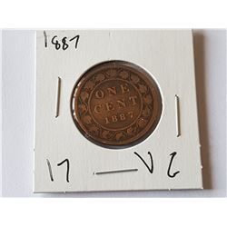 1887 Large Penny