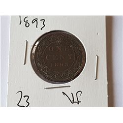 1893 VF Large Penny