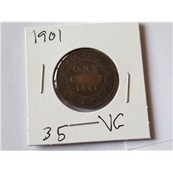 1901 Large Penny
