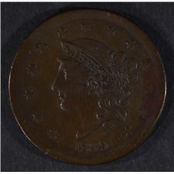 1839 LARGE CENT, VF/XF