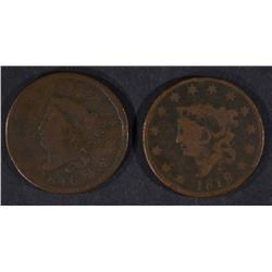 1816 VG/F & 1818 VG/F LARGE CENTS