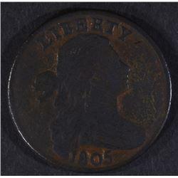 1805 LARGE CENT, VG/FINE