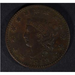 1819 LARGE CENT, XF