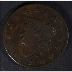 1820 LARGE CENT, VF