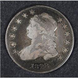 1828 BUST QUARTER, VF/XF -NICE COLOR