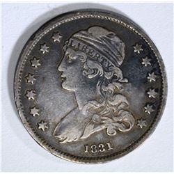 1831 BUST QUARTER, XF