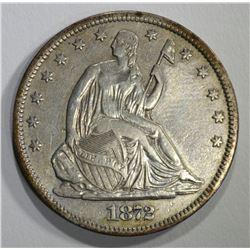 1872-S SEATED HALF DOLLAR, XF