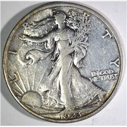 1923-S WALKING LIBERTY HALF DOLLAR ORIG XF/AU