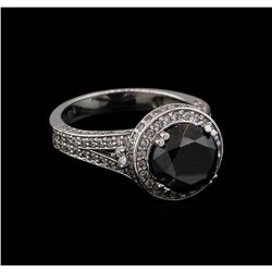 4.79 ctw Black Diamond Ring - 14KT White Gold
