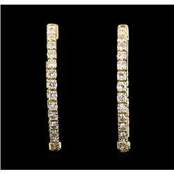 1.02 ctw Diamond Earrings - 14KT Yellow Gold