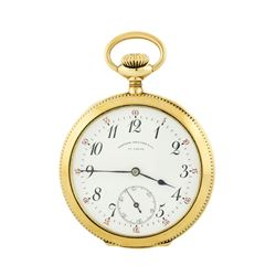 Agassiz Open-Face Pocket Watch - 14KT Yellow Gold