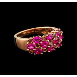 1.70 ctw Pink Tourmaline and Diamond Ring - 10KT Rose Gold