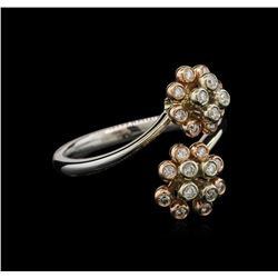 0.24 ctw Diamond Ring - 14KT Two-Tone Gold