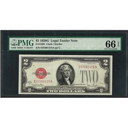 1928G $2 Legal Tender Note Fr.1508 PMG Gem Uncirculated 66EPQ