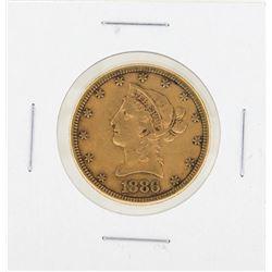 1886S $10 Liberty Gold Coin VF