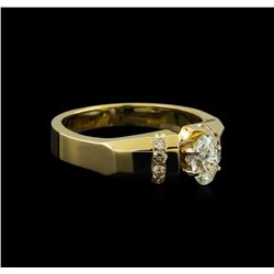 0.57 ctw Diamond Ring - 14KT Yellow Gold