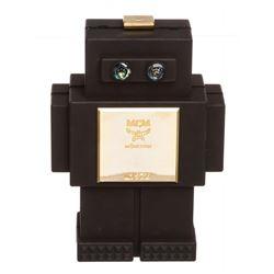 MCM Black Roboter Series Clutch Handbag