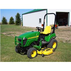 "2007 John Deere 2305 HST MFWD W/ Mower Deck, 3PTH, 470 HRS, The Edge Xtra Cutting Sustem, 62"", Diese"