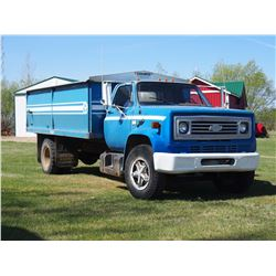 1980 Chevrolet 70 V8 Gas Truck, 15' Box And hoist W/ Roll Tarp, 5 Speed and Two