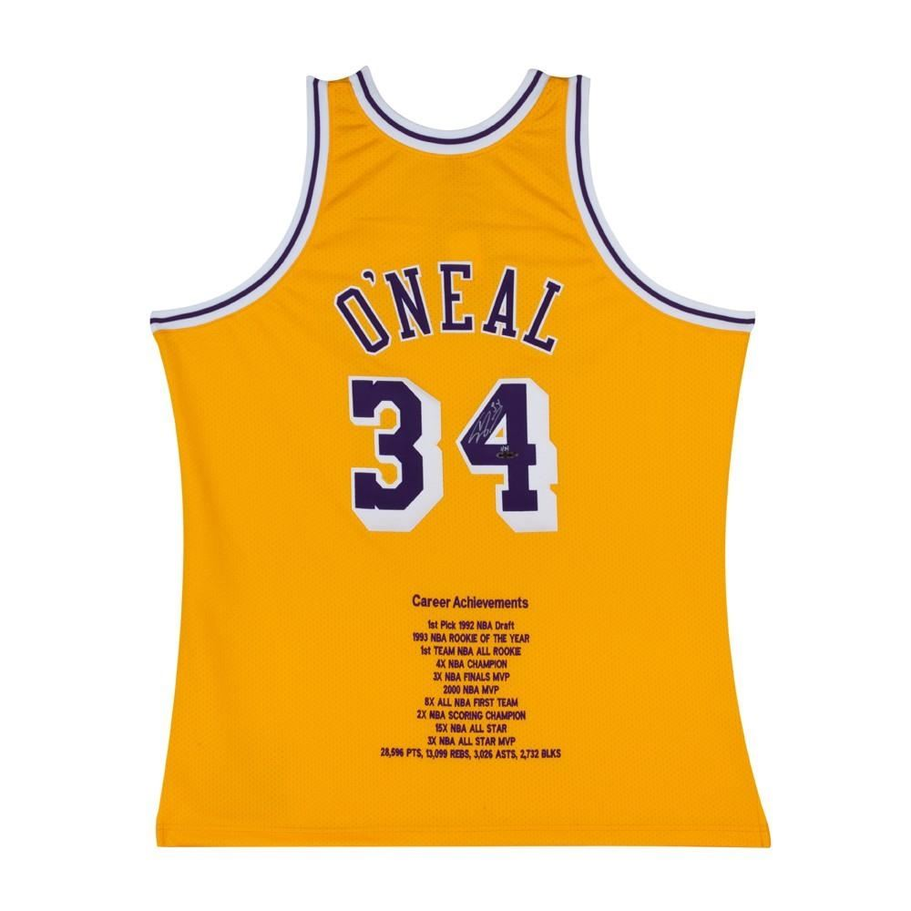 c687b19bc Image 1   Shaquille O Neal Signed LE Lakers Career Highlight Stat Jersey  (UDA