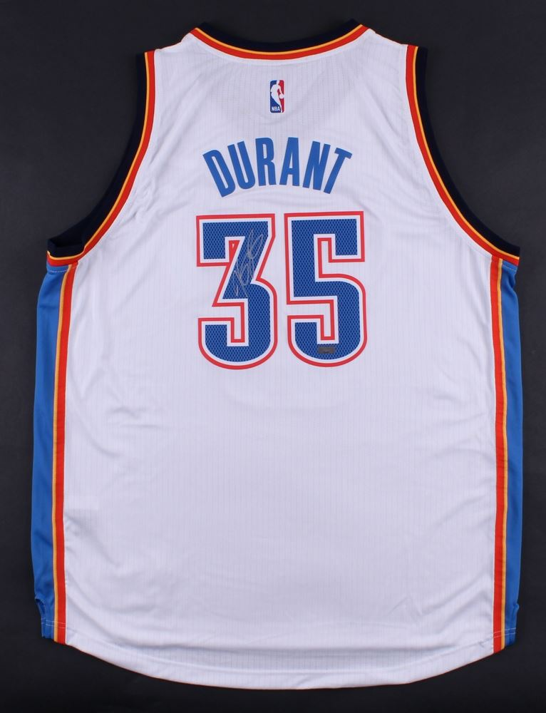 finest selection 90771 8676d Kevin Durant Signed Adidas Thunder Jersey (Panini COA)