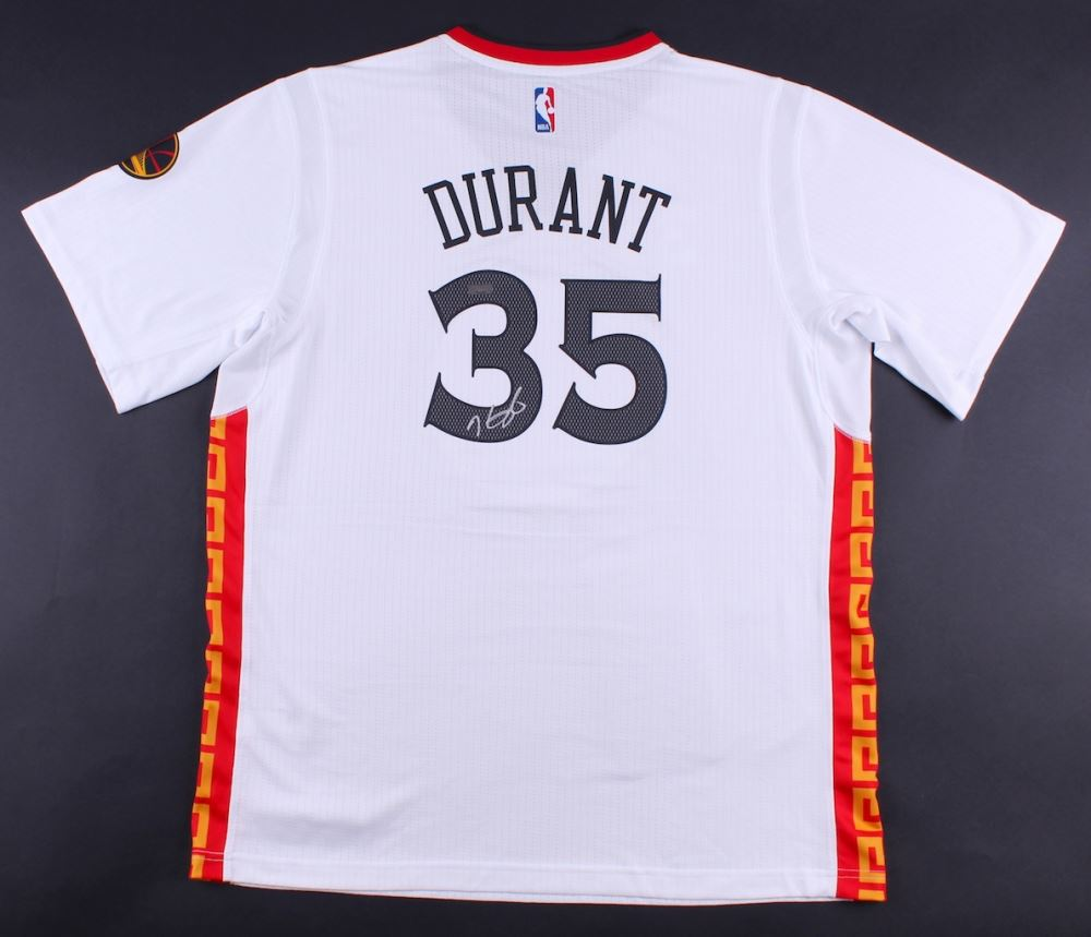 best loved 0aafa 01729 Kevin Durant Signed Warriors Chinese New Year Adidas ...