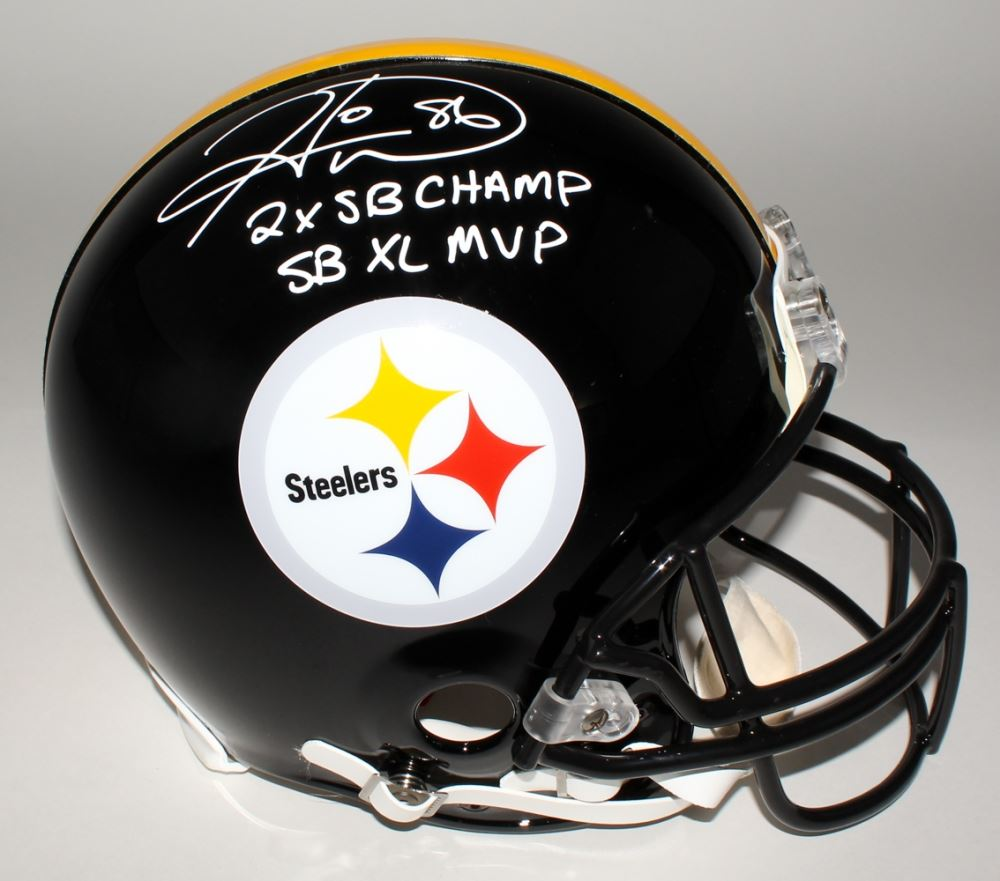 967615636ec Image 1   Hines Ward Signed Steelers Full-Size Authentic Helmet Inscribed