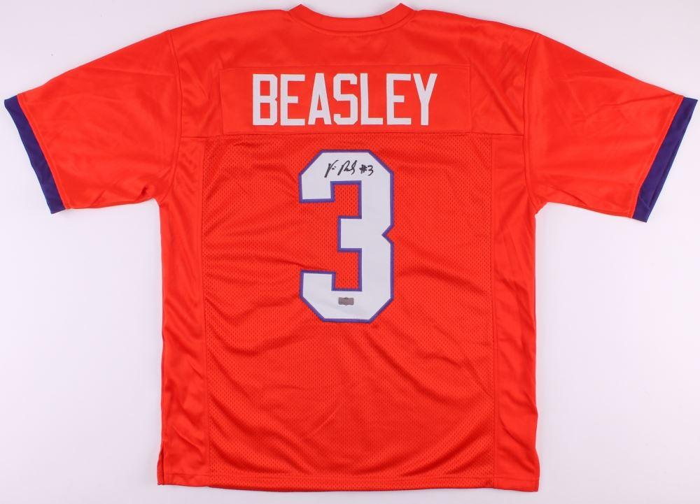 brand new 667d0 7dc77 Vic Beasley Signed Clemson Tigers Jersey (Radtke COA)