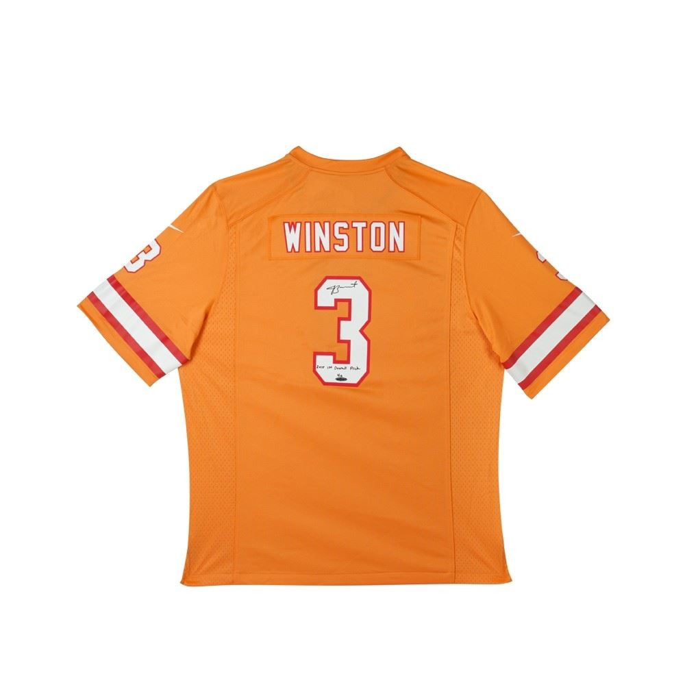 dfe57e02770 Image 1 : Jameis Winston Signed Limited Edition Buccaneers Jersey Inscribed
