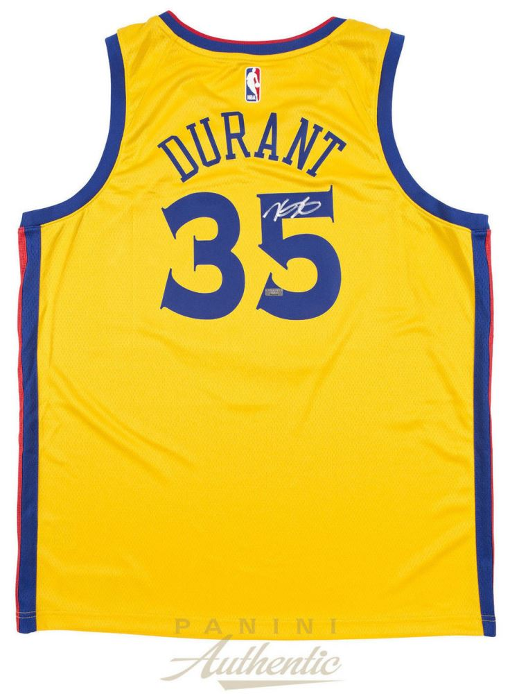 98b430d6 Image 1 : Kevin Durant Signed Warriors City Edition Jersey (Panini COA)