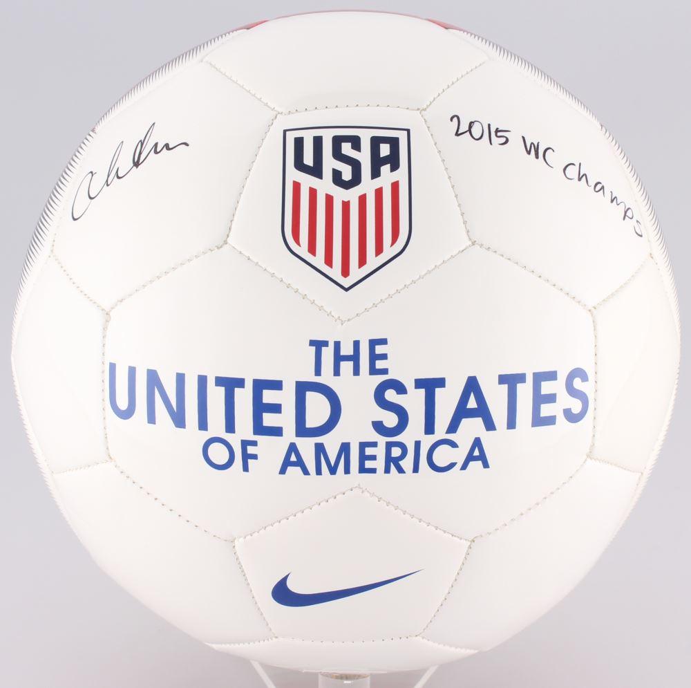 Christen Press Signed Team USA Nike Soccer Ball Inscribed