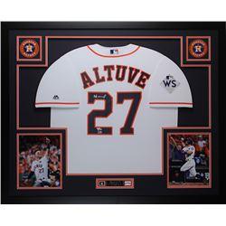 a8e7b79c85f Jose Altuve Signed Astros 35x43 Custom Framed Jersey Display (Fanatics)