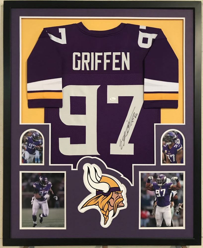 check out aac73 ea6bf Everson Griffen Signed Vikings 34x42 Custom Framed Jersey ...