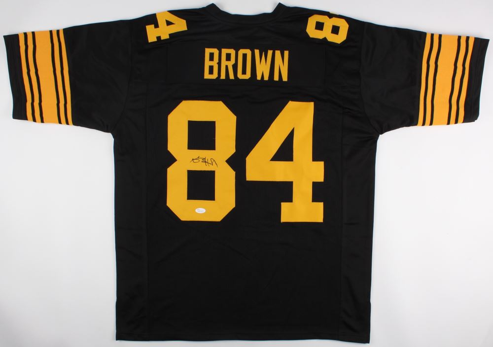 best service a9b03 4bcb7 Antonio Brown Signed Color Rush Steelers Jersey (JSA COA)