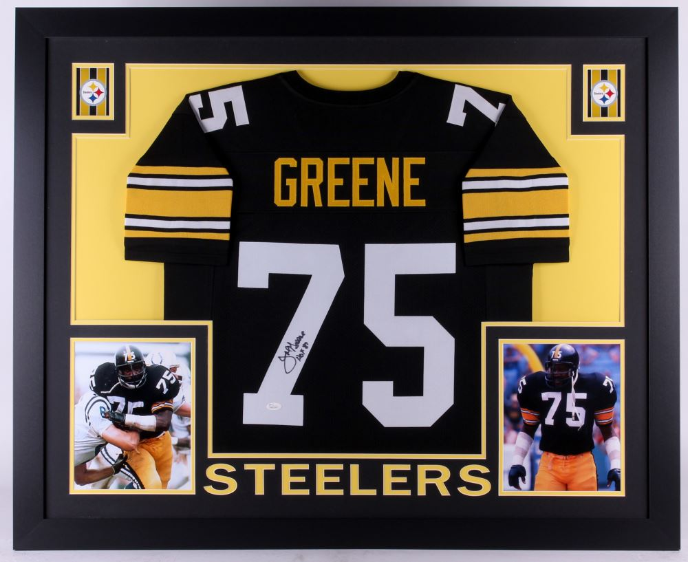 7a749f763 Image 1   Joe Greene Signed Steelers 35x43 Custom Framed Jersey Inscribed