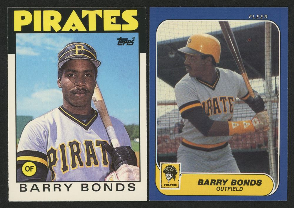 Lot Of 2 Barry Bonds 1986 Fleer Baseball Cards With 11t Xrc 14 Xrc