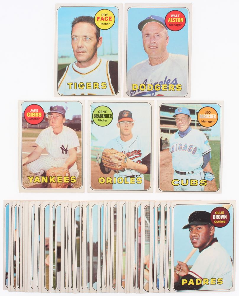 Lot Of 49 1969 Topps Baseball Card With 79 Milt Pappas 220